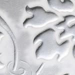 LL FLORAL White/Silver matt Nr. 13418 2612x1000x2,9 mm