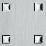 3D Q-10-40-40 Silver brushed/Silver Nr. 12012 2600x1000x1,3 mm