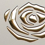 3D ROSES Champagne PF met/Gold Nr. 13918 2600x1000x1,3 mm