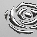 3D ROSES Silver PF met/Silver Nr. 13917 2600x1000x1,3 mm